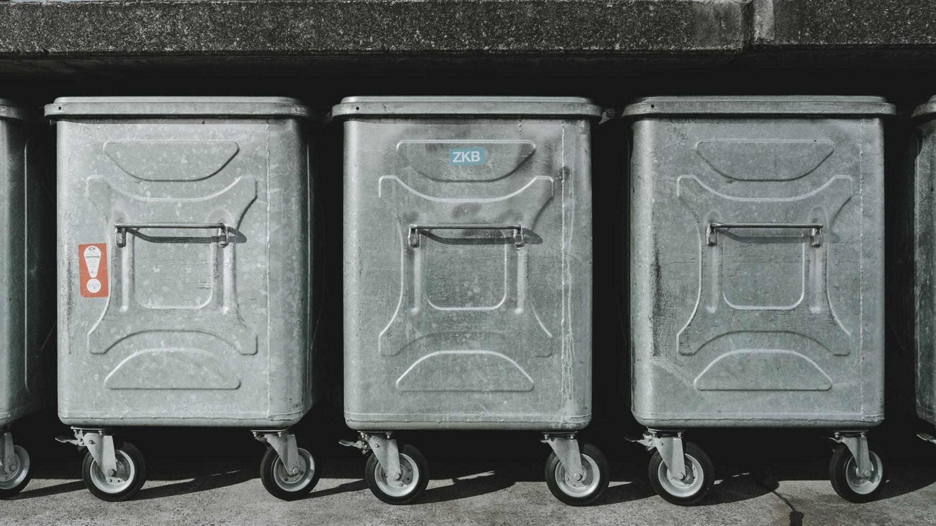Bereitstellung von Mülltonnen